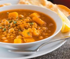 House Home Photo Squash, Lentil And Chickpea Soup Recipe Rosh Hashanah