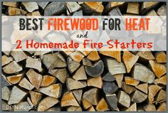 Let's talk about firewood. Including: the best firewood to use for heat, what to do with your ashes, how to make homemade fire starters, safety considerations, etc. Homemade Fire Starters, Glass Fire Pit, Real Fire, Fire Prevention, Wood Shed, Emergency Preparedness, Survival Hacks, Survival Skills, How To Make Homemade
