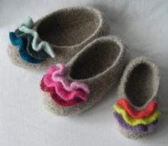 Knitting pattern PDF, Womens Girls Felted Ruffle Toe Slippers, DIY Birthday Christmas gift Hygge, resell permission, WORSTED yarn – The Best Ideas Felted Slippers Pattern, Knitted Slippers, Clog Slippers, Knit Socks, Felt Shoes, Circular Knitting Needles, Diy Birthday, Yarn Needle, Garter Stitch