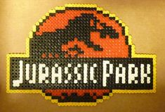 Jurassic Park with hama beads by RealPife