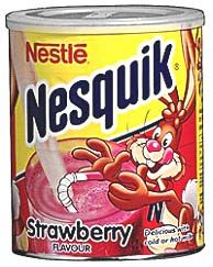 Nesquik with strawberry flavor.. yummy..