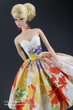 Vintage robe avec bolero pour Silkstone Barbie chez par Sanglian