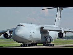 ド迫力離陸!!! C-5 ギャラクシー Galaxy taxiing & takeoff USAF Yokota 横田基地