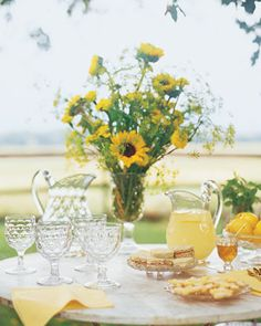 Al Fresco Dining! by catrulz Martha Stewart Home, Martin Johnson, Hello June, Yellow Cottage, Bottle Candles, Drip Candles, Wine Bottles, Enchanted Home, Honeycomb Pattern