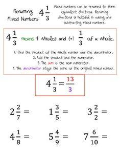IMPROPER FRACTIONS AND RENAMING MIXED NUMBERS WORKSHEETS - TeachersPayTeachers.com