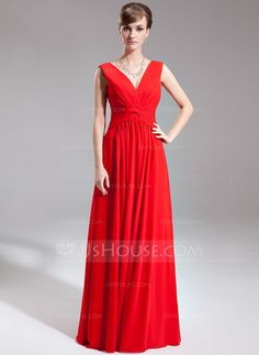 Mother of the Bride Dresses - $128.99 - A-Line/Princess V-neck Floor-Length Chiffon Mother of the Bride Dress With Ruffle (008006519) http://jjshouse.com/A-Line-Princess-V-Neck-Floor-Length-Chiffon-Mother-Of-The-Bride-Dress-With-Ruffle-008006519-g6519