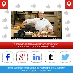 If you have a small bakery or cafeteria and want to reach out to the maximum number of users or customers via your website then there's one local SEO guideline or tip that you can make the most of. Here's the tip-try uploading some graphic footages or videos on YouTube and chances are that you'll or rather your business will go a long way as a majority of regional or locale-oriented business owners usually lack the sagacity of milking automated social media sites and YouTube   Read More +