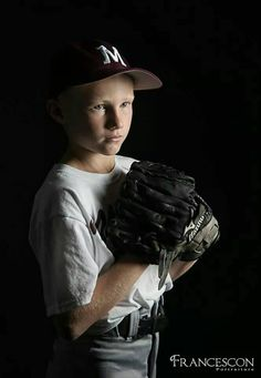 Great having a little baseball player in th studio.