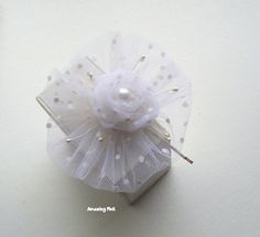 Hair Pin / Bridal Hair Accessory / White Bobby Pin by AmazingPink, $20.00