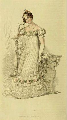 1816 Bridal dress Ackermann Repository of Arts