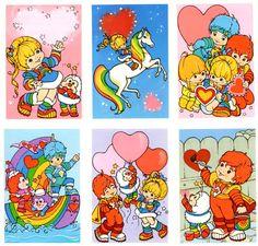 Happy Valentine's Day! 1980s Childhood, Childhood Memories, Vintage Cartoon, Vintage Toys, 1980 Cartoons, Cartoon Costumes, Vintage Magazine, Love Rainbow, Rainbow Brite