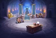 Game Background, Online Portfolio, Concept Art, Castle, Places, Illustration, Anime, Painting, Conceptual Art