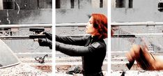 natasha: [CASUALLY DODGES ALIEN PHOTON BLAST AND CALMLY RESUMES FIRE]  clint: [RESTING FACE WHILE DESTROYING 10 CHITAURI WITH SINGLE ARROW]
