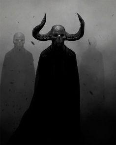 so cool and creepy! Arte Horror, Horror Art, Dark Fantasy Art, Dark Art, Fantasy Rpg, Creepy Art, Scary, Satanic Art, Arte Obscura