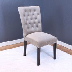 Markelo Tufted Velvet Dining Chairs (Set of (Taupe (Brown)), Monsoon