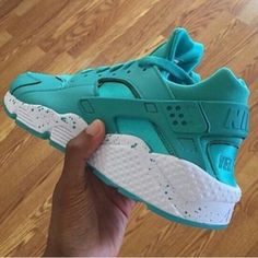 Custom Teal Nike Huaraches So Cheap!! Check it out!! Only $21!