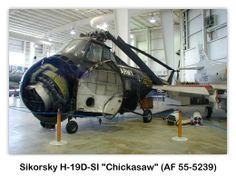 Sikorsky H-19D-SI Chickasaw (AF 55-5239) en el USS Alabama (BB-60) Battleship Park, Mobile, Alabama
