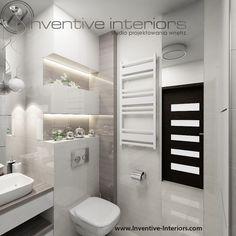 Projekt łazienki Inventive Interiors - jasna łazienka w beżach