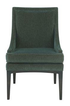 353-542 Mya Upholstered Chair | Bernhardt W 24 D 27 H 38 SH 19 SH 20.5 SD 19 $1075 #SlopedArm #Showroom