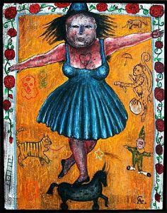 artnet Galleries: Mujer de Circo sobre Caballo Enano by Alejandro Colunga from Alvaro Aceves Galería