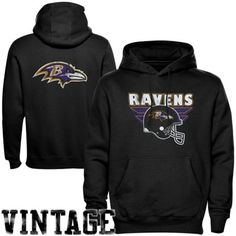 Baltimore Ravens Zone Blitz Double-Sided Pullover Hoodie - Black