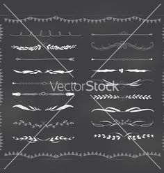 Chalkboard text divider hand drawn vintage vector  borders frame by ngocdai86 on VectorStock®