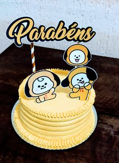 Korea Cake, Bts Cake, Bts Birthdays, Bts Beautiful, Buttercream Recipe, Its My Bday, Mochi, Birthday Decorations, No Bake Cake