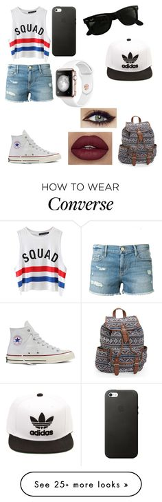 """""""My shorts wear"""" by tomboy360 on Polyvore featuring Frame Denim, Chicnova Fashion, Converse, Aéropostale, Ray-Ban and adidas"""