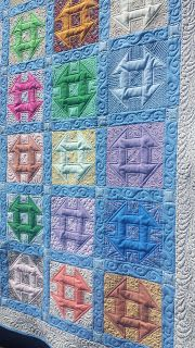 charity quilt.  assembled and quilted by Susan Lawson