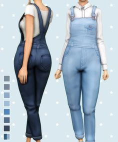 The Sims 4 overalls recolored by butterscotchsims Sims 4 Mm Cc, Sims Four, Sims 4 Cas, My Sims, Sims 4 Dresses, Best Sims, Sims 4 Cc Finds, Sims 4 Clothing, The Sims4