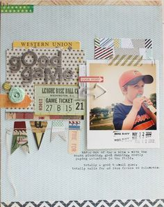 #papercraft #scrapbook #layout   Lisa Truesdell