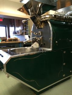 THE koffee roaster. Come on in and you can watch the process happen. You can even take a class in coffee roasting!