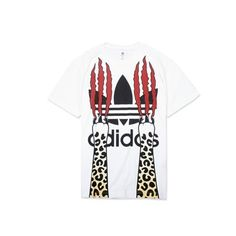 Durable Mens Jeremy Scott Adidas Logo Graphic Paws T-Shirt For $45.00