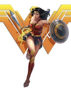 Wonder Woman by Bowen Gao -ArtStation Wonder Woman Art, Superman Wonder Woman, Wonder Woman Comic, Gal Gadot Wonder Woman, Wonder Woman Drawing, Comics Anime, Dc Comics Art, Comics Girls, Marvel Dc Comics