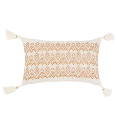 Funda de cojín de algodón color crudo con motivos decorativos gráficos 30x50 GUINEE | Maisons du Monde Red Couch Living Room, Bed Pillows, Cushions, Decoration, Cushion Covers, Graphic Prints, Decorative Pillows, Pillow Cases, Beige
