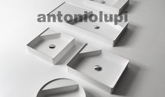 Top mount and freestanding sinks: Simplo by Antonio Lupi