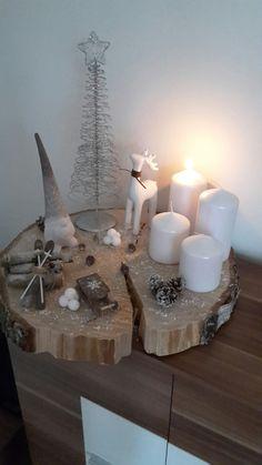 Advent chandeliers étoile avec mangoholz-couronnes dans le look vintage bougeoirs
