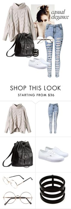 """Casual Look#13"" by olmw-1 on Polyvore featuring H&M, Vans, Sunday Somewhere and Repossi"