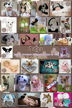 Dogs Part 3 | Animal Crochet Pattern Round Up for Companion Dogs via @beckastreasures