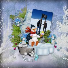 """New from  Bee Creations, """"Winter Joy"""" can be found at www.escapeandscrap.net, www.scrapfromfrance.fr and bazarascrap.com.  Personal photo used."""