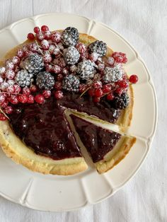 Cheesecake ai Frutti di Bosco Senza Burro - Dolci Senza Burro Dolce, Waffles, Breakfast, Desserts, Recipes, Food, Morning Coffee, Tailgate Desserts, Deserts