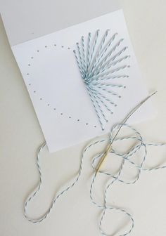How to Make Hand Sewn Greeting Cards Use Baker's Twine to Make a Gorgeous DIY Card for Valentine's Day Mother's Day, or Any Other Holiday Destination Decoration Diy Gifts For Mom, Mothers Day Crafts For Kids, Diy Mothers Day Gifts, Mothers Day Cards, Valentine Day Cards, Valentines Diy, Grandparent Gifts, Mothers Day Ideas, Mum Gifts