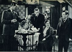 Cary Grant, Jean Adair, Josephine Hull, Edward Horton and Peter Lorre in Arsenic and Old Lace