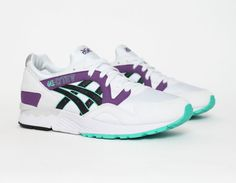 #Asics Gel Lyte V 5 White Purple #sneakers