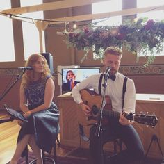 Our brother-sister #acousticduo BRENTWOOD performing today at @onefinedayweddingfairs  #onefinedaymelbourne #evententertainers @brentwoodduo
