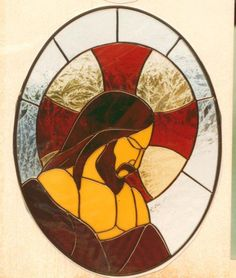 Jesus Profile - by Stained Glass Master