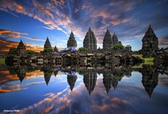 reflection of prambanan by Muhammad Ridha