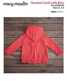 Sweater Knitting Patterns, Baby Knitting, Crochet For Kids, Knit Crochet, Toddler Sweater, Bow Pattern, Hooded Cardigan, Fall Sweaters, Sweater Fashion