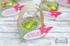 Vlinders & roze - Miss Erdbeerli - Lilly is Love Stamping Up, Christmas Ornaments, Pink, Holiday Decor, Gifts, Klagenfurt, Inspiration, Easter Ideas, Scrapbooking Ideas