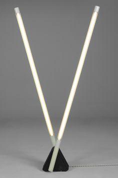 Rodolfo Bonetto; 'Sistema Flu' Floor Lamp for Luci, 1980s